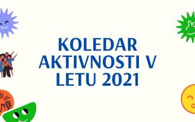 Aktivnosti v letu 2021