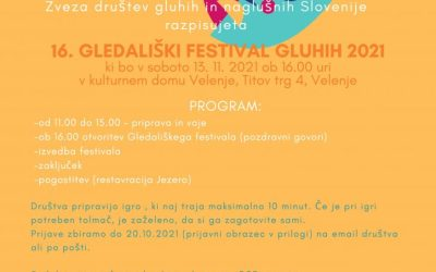 Vabilo Gledališki festival 2021