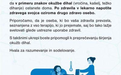 Obvestilo za obiskovalce lekarn