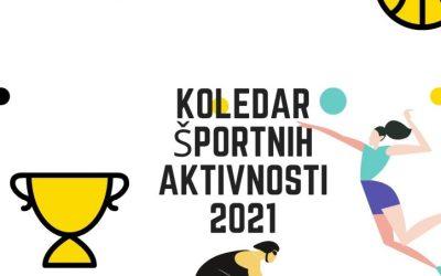 Termini aktivnosti v športu 2021